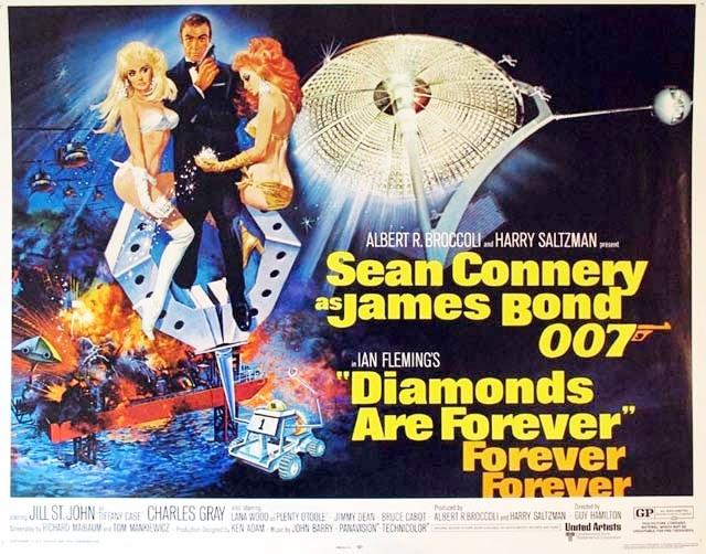 『007/ダイヤモンドは永遠に』のあらすじとキャスト